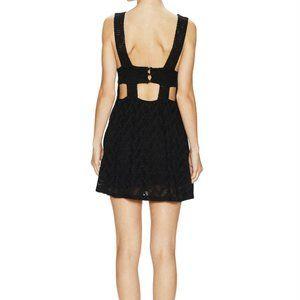 FREE PEOPLE Textured Lace Poppy Dress Black-XS,S,L